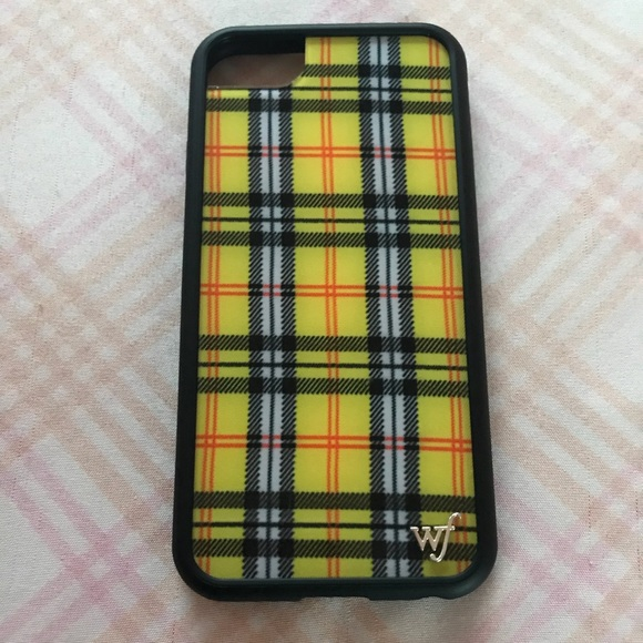 on sale 4cf6e a4f99 Wildflower Cases Yellow Plaid Case